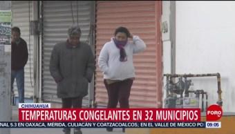 Frente frío número 17 provoca temperaturas congelantes
