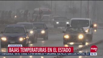 Frente fríos provocó nevadas en Bocoyna y Guerrero, Chihuahua