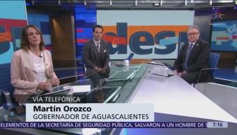Gobernador de Aguascalientes: No se puede mezclar política con la seguridad publica