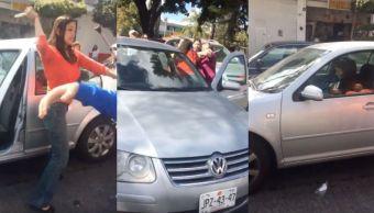 Video: Conductora golpea a familia por tardarse al cruzar una calle