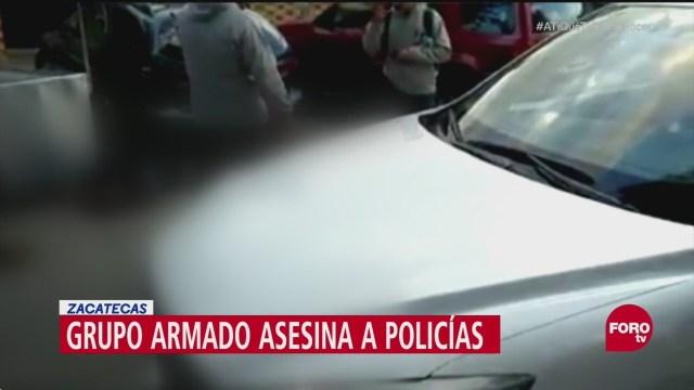 Grupo armado asesina a dos policías en Guadalupe, Zacatecas