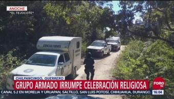 Grupo Armando Irrumpe Celebración Religiosa En Guerrero, Grupo Armando Irrumpe Celebración Religiosa, Guerrero, Chilpancingo, Mujer Muerta, Cuatro Lesionados