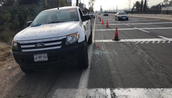 Grupo armado roba camión de valores en Guanajuato