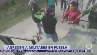 Huachicoleros agreden a soldados en Tepeaca, Puebla