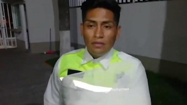 'Pensé que me iba a estampar', revela policía de Atizapán que se llevaron colgado en un cofre