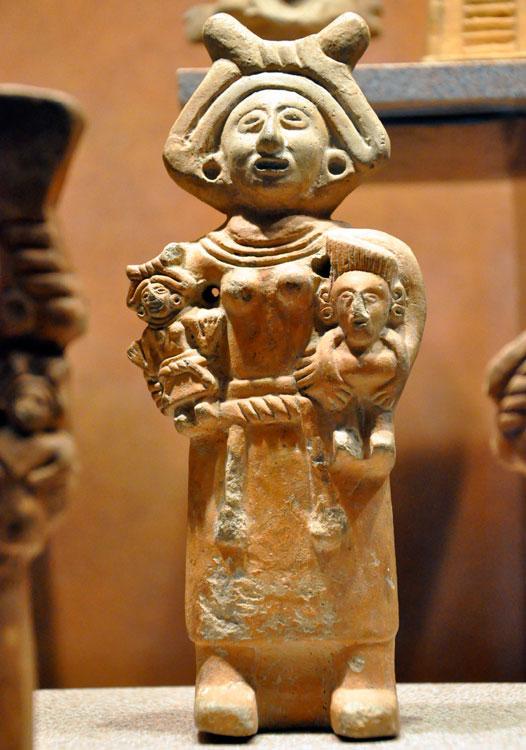 Imagen de la diosa Toci-Tonantzin en el Museo Nacional de Antropología, en a Ciudad de México (Archivo)