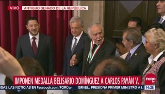 Imponen medalla Belisario Domínguez a Carlos Payán