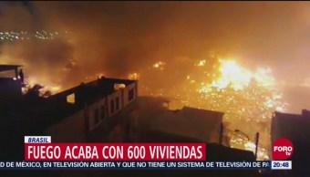 Incendio Consume 600 Casas Barrio De Brasil