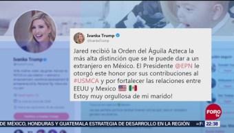 Ivanka Trump agradece distinción de México a Jared Kushner