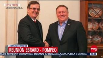 Ebrard se reúne con Mike Pompeo en Washington