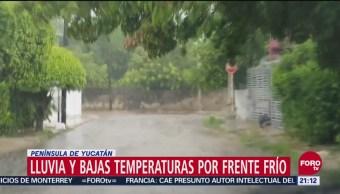 Bajas Temperaturas Por Frente Frío En Península De Yucatán, Bajas Temperaturas, Frente Frío, Península De Yucatán