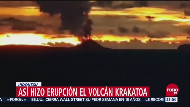 Así Hizo Erupción El Volcán Krakatoa, Erupción, Volcán Krakatoa, Indonesia