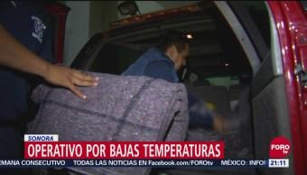 Operativo por bajas temperaturas en Sonora, Operativo por bajas temperaturas, Sonora,