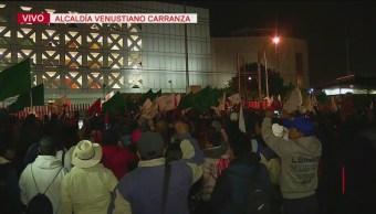 Levantan Plantón Afuera De San Lázaro, Levantan Plantón, San Lázaro, Organizaciones Campesinas, Cámara De Diputados