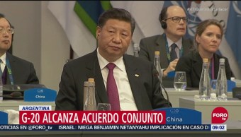 Líderes del G20 logran acuerdo conjunto