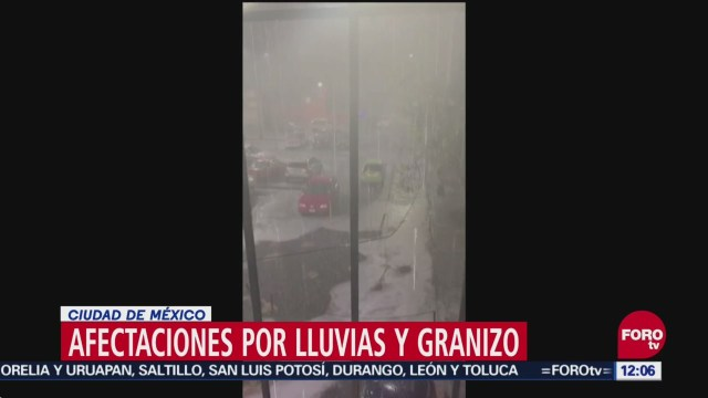 Lluvia afecta a alcaldías de CDMX y municipios del Edomex