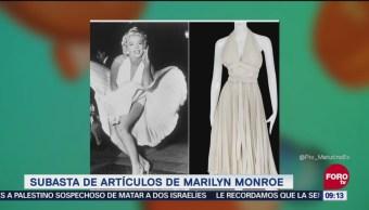 #LoEspectaculardeME: Subasta de artículos de Marilyn Monroe