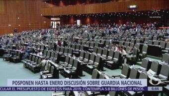 Diputados posponen discusión de la Guardia Nacional