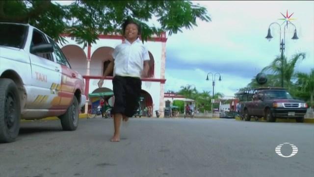Niño Yucateco Gana Carrera De 400 Metros Descalzo