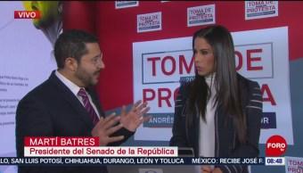 Martí Batres espera que legisladores se comporten en toma de protesta de AMLO