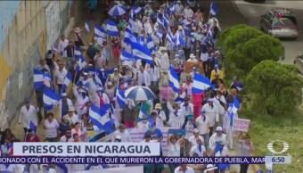 Más de 300 personas detenidas en Nicaragua