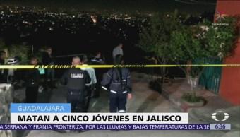 Matan a 5 jóvenes en casa de Loma Linda, en Guadalajara