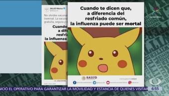 Meme de Picachu invita a población a ponerse vacuna contra influenza