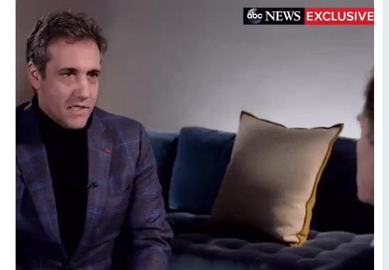 Michael Cohen durante entrevista en ABC News. (@ABC)