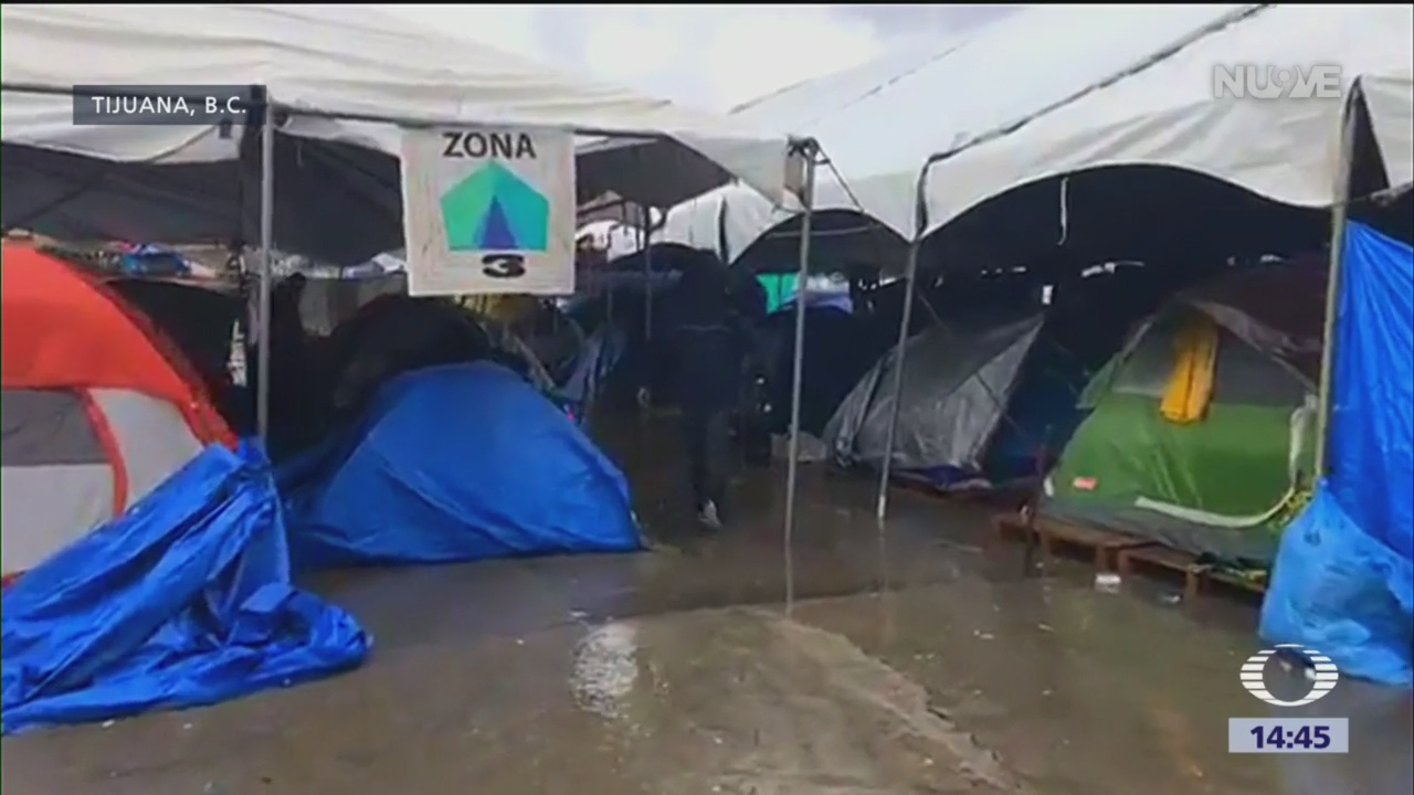 Migrantes centroamericanos tuvieron una Navidad fría en Tijuana