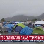 Migrantes padecen mal clima en Tijuana