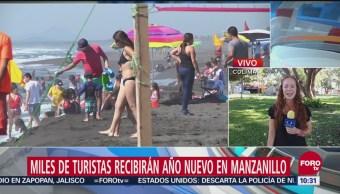 Miles de turistas recibirán el año nuevo en Manzanillo