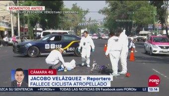 Muere ciclista atropellado en la colonia Felipe Pescador en la CDMX