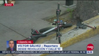 Muere ciclista tras ser atropellado en avenida Revolución, CDMX