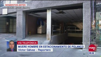 Muere hombre por hipotermia en estacionamiento de Polanco, CDMX