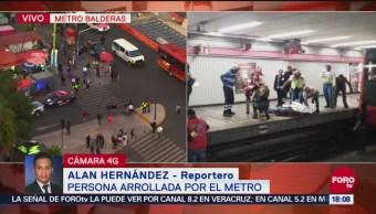 Muere un hombre arrollado por convoy del Metro