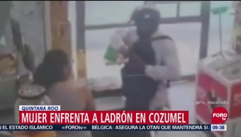 Mujer enfrenta a ladrón en Cozumel, Quintana Roo