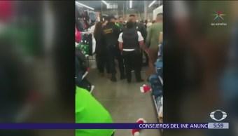 Mujer roba en supermercado de Ixtapaluca y cómplices la rescatan