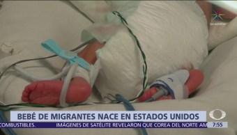 Nace bebé de caravana migrante en San Diego, California
