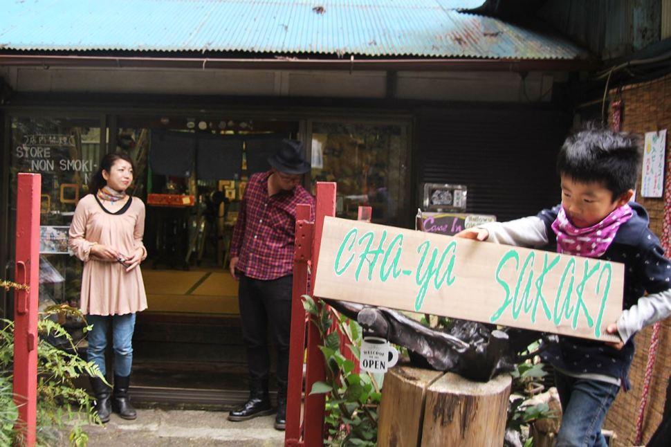 Naoko Ida, residente de una akiya desde 2016, abrió un café para ciclistas y motoristas que visitan las montañas de Okutama en septiembre de 2017 (CNN)