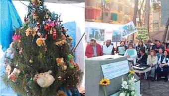 Así pasaron la Navidad damnificados del Multifamiliar de Tlalpan