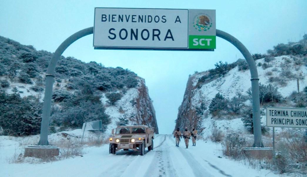 Clima Sonora, cae primera nevada de la temporada en Cananea