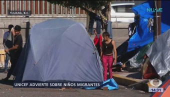 Niños migrantes viven situaciones traumáticas en México, dice Unicef