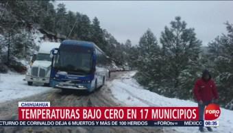 Norte De México Registra Temperaturas Muy Bajas, Norte De México Temperaturas Muy Bajas, 17 Municipios De Chihuahua, Temperaturas Bajo Cero, Sonora, El Clima