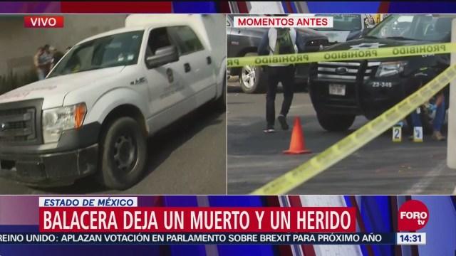 Balacera deja un muerto y un herido tras asalto en Tlalnepantla