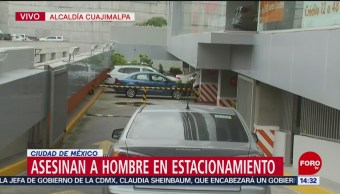 Matan a un hombre en estacionamiento en Cuajimalpa