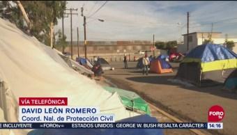 Autoridades brindan atención integral a migrantes en Tijuana,