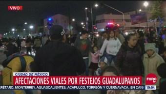 Siguen Afectaciones Viales Festejos Guadalupanos CDMX