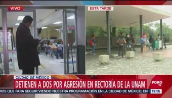 Suman Dos Detenidos Agresión Rectoría Unam