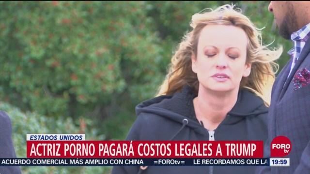 Ordenan Actriz Porno Pagar 300 Mil Dólares Trump
