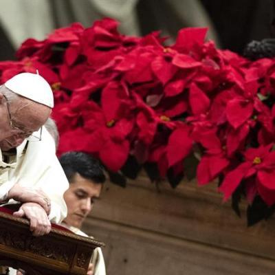 Papa Francisco lamenta humanidad 'voraz y ávida'